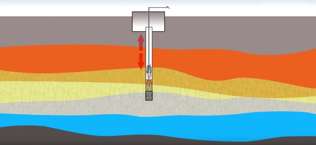 Чистка скважины вибрационным насосом