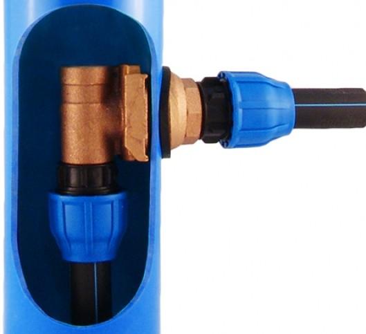 скважинный адаптер в трубе